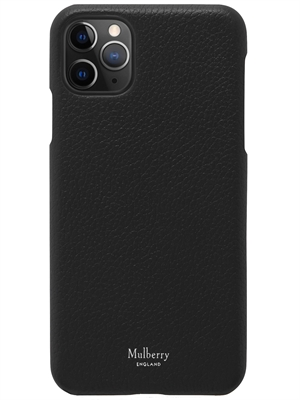 Mulberry Iphone 11 Pro Max Cover Black Classic Grain