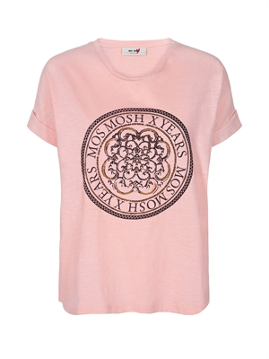 Mos Mosh T-Shirt - Yara Anniversary Tee Rose With Copper 132000-376
