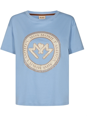 Leah O-SS Tee, Bel Air Blue
