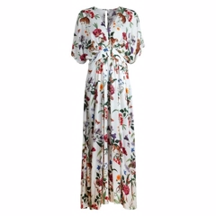 Stenstrøms Dress Long White Floral 480025-6629-051