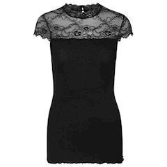 Rosemunde Silk T-shirt W/Lace Black