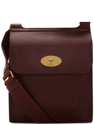 Mulberry Antony Oxblood Natural Grain Leather