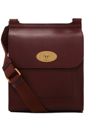Mulberry Small Antony Oxblood Natural Grain