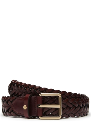 Braided Belt Double Plait Oxblood