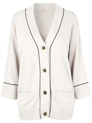 LR-FUNDA 17 Cardigan, Cream - Levete Room