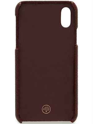 iPhone X/XS Cover, Oxblood Natural Grain