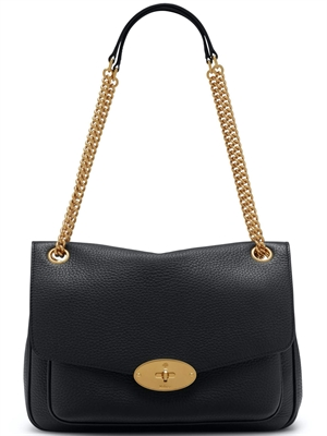 Darley Shoulder Bag Black Heavy Grain