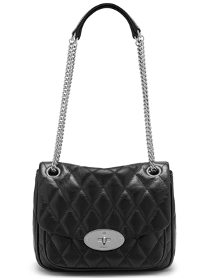 Mulberry Small Darley Shoulder Bag Quilted Shiny Buffalo Black HH6189/158A100