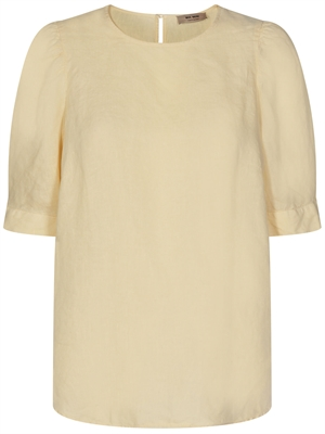 Mos Mosh Dee SS Linen Bluse, Charmomile