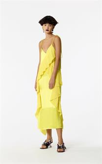 Kenzo Short dress with ruffles Lemon