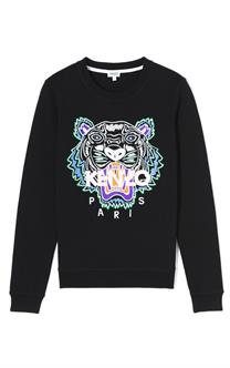 Kenzo Embroidered Tiger Sweatshirt Black
