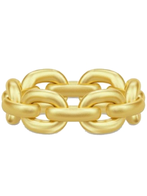 Link Chain Ring, Guld