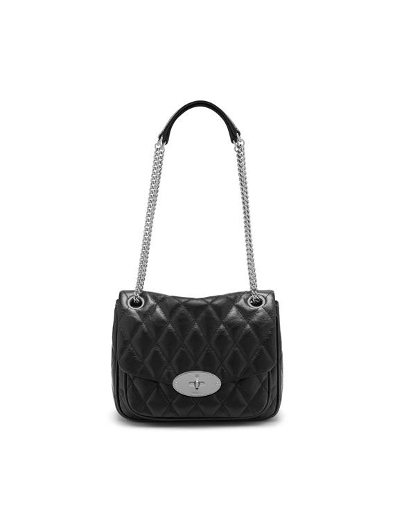 Mulberry Small Darley Quilted Shiny Buffalo Black HH6189/158A100