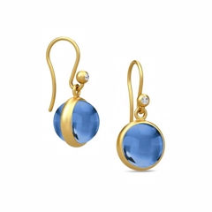 Julie Sandlau Prime Øreringe Gold/Royal Blue