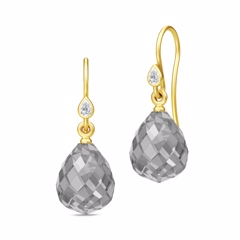 Julie Sandlau Droplet Earrings Gold/Grey