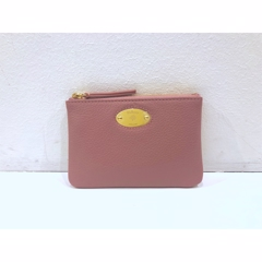 Mulberry Plaque Small Zip Coin Pouch Mocha Rose RL5682/013J955