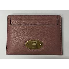 Mulberry Plaque Credit Card Slip Small Classic Grain Mocha Rose