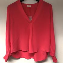 Notes Du Nord Glee Blouse Pink Fire