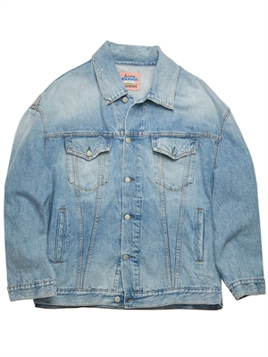 Acne Studio Jakke - Morris Denim Jacket Destroyed Blå C90024