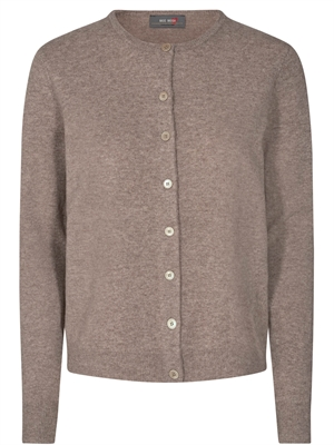 Levona Crew Neck Cardigan, Chocolate chip