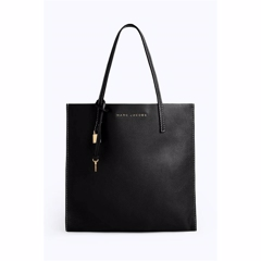 Marc Jacobs The Grind Shopper Tote Bag Black/Gold
