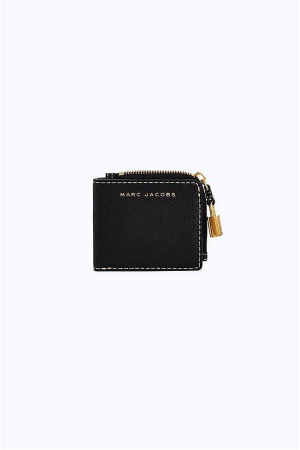 Marc Jacobs The Grind Snap Wallet Black