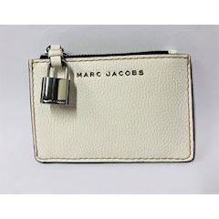 Marc Jacobs The Grind Top Zip Multi Wallet White