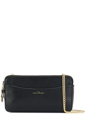 Marc Jacobs Chain Continental Cross-body Taske, Black/Gold