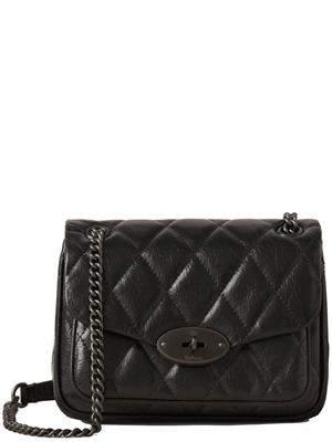 Mulberry Mini Darley Shoulder Bag Quilted Shiny