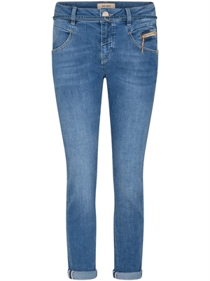 Mos Mosh Nelly String Jeans Ankle, Light Blue