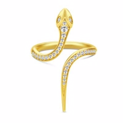 Julie Sandlau Boa Open Ring Gold
