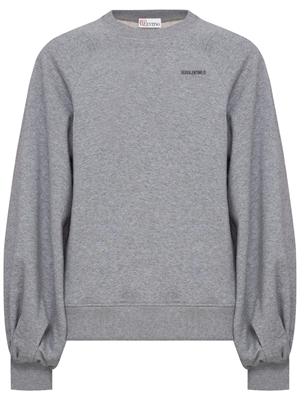 Balloon Sleeve Sweatshirt, Grey Melange