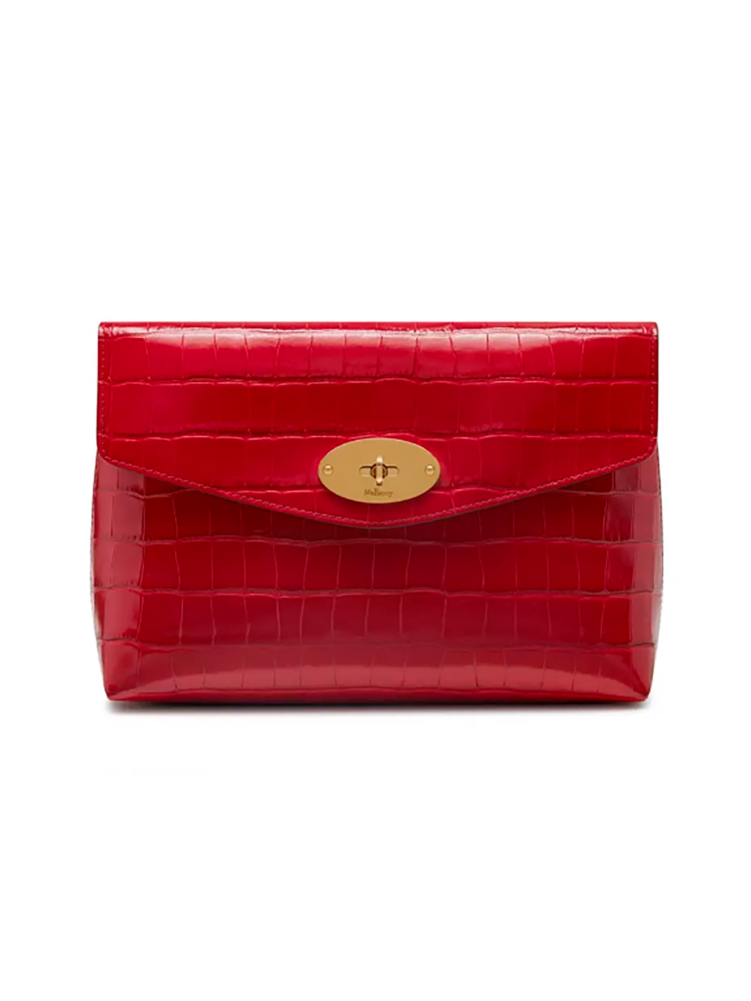 Mulberry Large Darley Cosmetic Shiny Croc Red Berry - RL5804/069J953