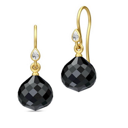 Julie Sandlau Droplet Earrings Gold/Black