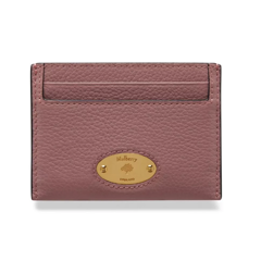 Mulberry Pung - Plaque Credit Card Slip Small Classic Grain Lyserød