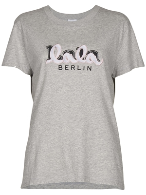 Lala Berlin T-shirt Cara Embroidery, Grey Melange