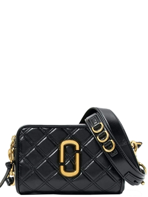 Marc Jacobs The Quilted Softshot 21, Black/Gold
