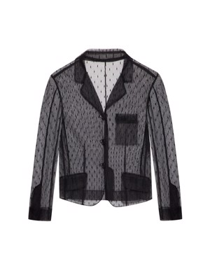 REDvalentino Point D'esprit Tulle Jacket Black
