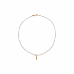 Anni Lu Turret Shell & Pearl Necklace Gold 191-20-52