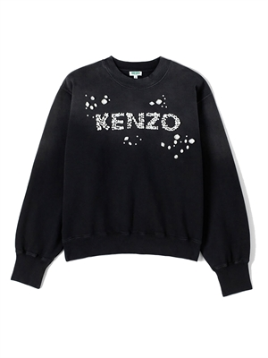 Kenzo Sweatshirt Bubble Pearls Black FA52SW61195999