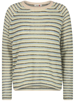 Helsa Stripe Knit, Winter Pear - Mos Mosh