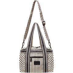 lala Berlin Small Bag Muriel Canvas Kufiya Off-White/Black