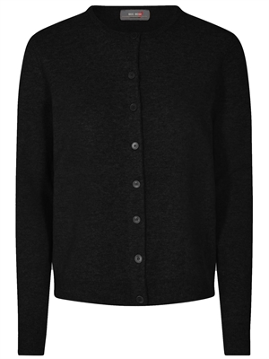 Levona Crew Neck Cardigan, Black