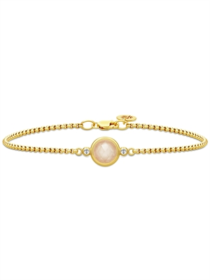 Moon Armbånd, Peach Moonstone