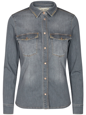 Selby Shade Denim Shirt, Grå - Mos Mosh