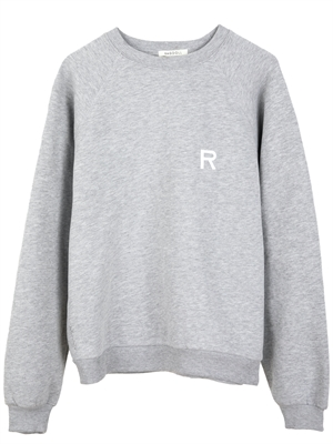 Oversized Sweatshirt, Grey Melange