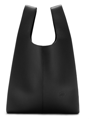 Portobello Tote Black Heavy Grain
