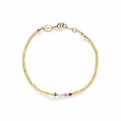Anni Lu Rice & Shine Bracelet Yellow Cream